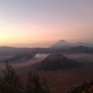 Sunrise over Mount Bromo in East Java after a 2am wake up and jeep ride through the mountains