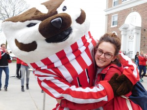 Bucky Badger and I became best friends.