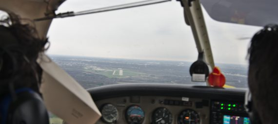 Final approach into Purdue Airport