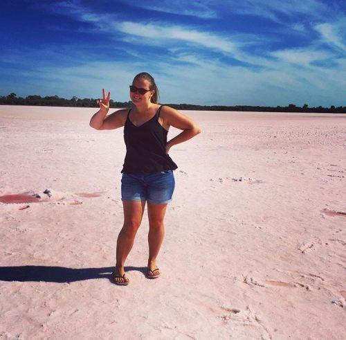 Pink Lake at Dimboola