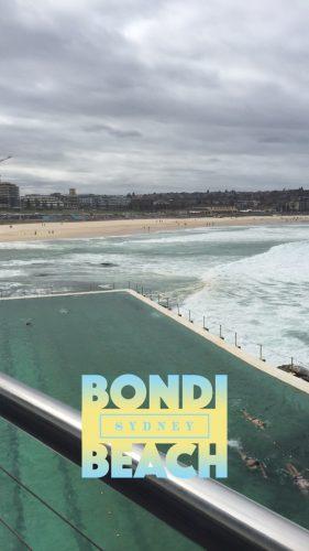 A cloudy day at Bondi beach