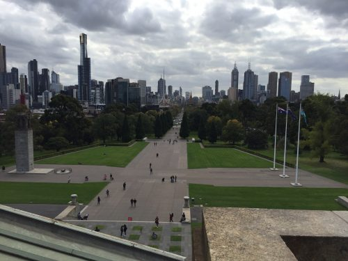 Melbourne Skyline from the shrine