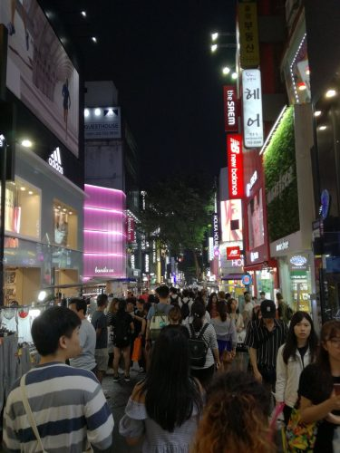 Myeongdong - another popular destination for shopping and food and its only one subway stop away from the university!