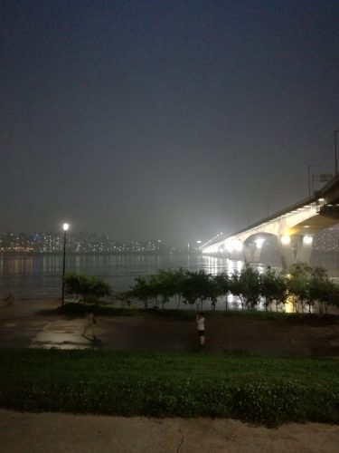 Han River - definitely recommend at night for a relaxed evening with friends.