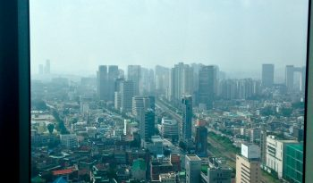 From the 29th floor, a view of South Seoul (Gangnam)